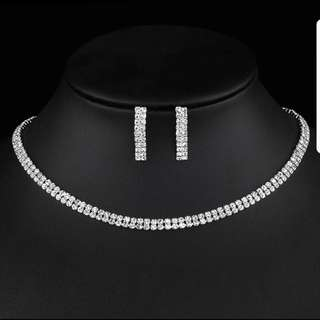 Crystal Jewelry set for bridal or dinner