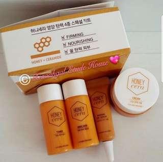 🔴$5➡️FOLLOWERS ONLY!🔴🚫Non Followers No Member Price/Discount🚫❤AUTHENTIC BRAND NEW❤MADE IN KOREA Etude House Honey Cera HONEY CERAMIDE --Firming+Nourishing Toner & Emulsion & Firming Eye Serum & Face Cream💋No Pet No Smoker Clean Hse💋