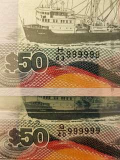 Solid 999999 Ship Series $50 Both PMG 66 EPQ