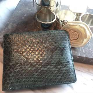 AUTHENTIC KWANPEN KWAN PEN REAL SNAKE SKIN LEATHER VINTAGE WALLET 真 蛇皮 銀包 卡 CHANEL LV HERMES BV RV GUCCI