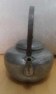 日本關西手工紅銅鍍錫急須(鐵壺/茶壺)
