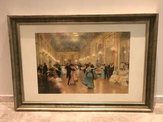 The Ball print by Victor Gabriel Gilbert with Frame