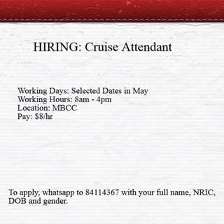 Cruise Check- In Agents x 30 **URGENTLY HIRING**
