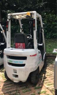 NISSAN Diesel operated 1.5 Ton Low mast 3 stage 430m