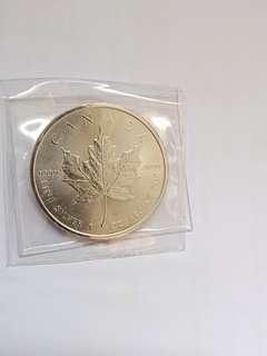 2014, Canada $5 fine silver bullion 1pcs