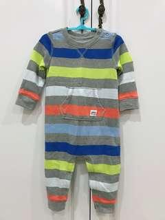 品牌:baby Gap條紋連身衣 新舊:九成新,無毛球 尺寸:6-12M 二手商品有正常使用痕跡,高標PASS!