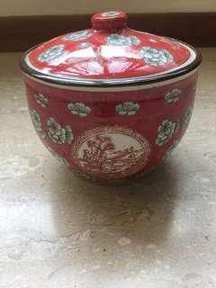 Vintage Porcelain Pot 13cm width and height 10cm