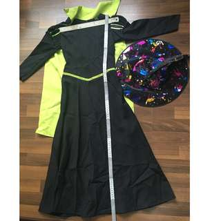 Wicked Witch of the West / Green Witch (Wizard of Oz) Girl's Costume with Witch Hat