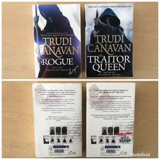 Traitor Spy Trilogy series by Trudi Canavan - (a) The Rogue, (b) The Traitor Queen