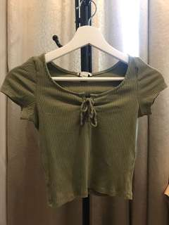 Army green top from Monki