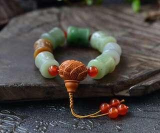 "[hetian jade ""bless"" multi-treasure bracelet]"
