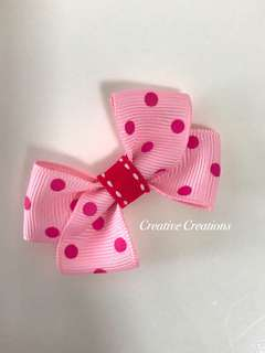<New Arrival> Polka Dot Bow Hair Clip/Hairtie/Brooch