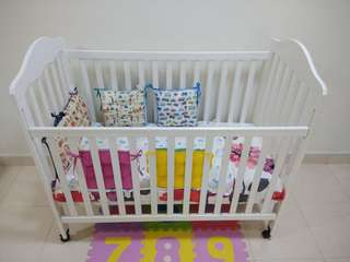 Baby Cot with Bedding set (plus complimentary stuff)