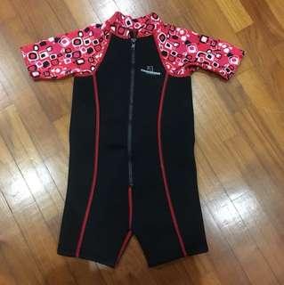 Thermal one piece swim wear