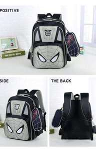 2in1  3D spiderman bag 16inches