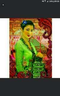 A1 size jumbo size  594 x 841 mm  Nyonya Ladies Peranakan baba nonya  Poster Prints By Local Original Peranakan 峇峇娘惹