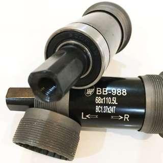 YST Sealed Bearing Bottom Bracket 110.5mm for Bicycles