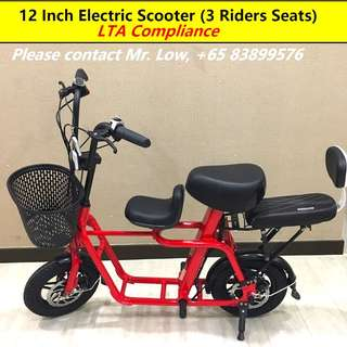 E-Scooter (2 or 3 Seaters)