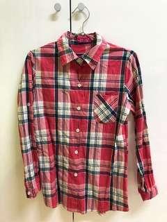 🚚 🌿全賣場一件$80🌿粉色格紋襯衫