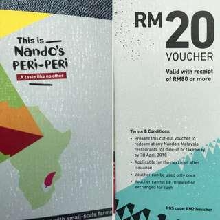Nando's RM20 voucher!
