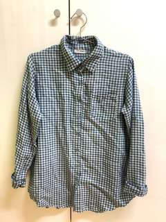 🚚 🌿全賣場一件$80🌿藍色格子襯衫