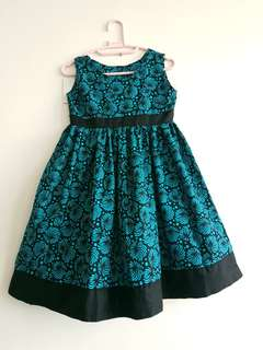 Aqua blue and black dress - 8years