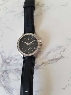Fossil Watch with Swarovski crystals and Date