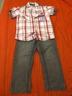 Terno Maong Pants and Polo shirt
