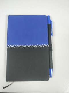 Pocket notebook with pen