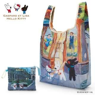 Japan Sanrio Gaspard Et Lisa x Hello Kitty Eco Bag (bakery)