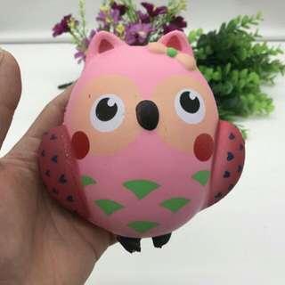 Squishy Pink Owl