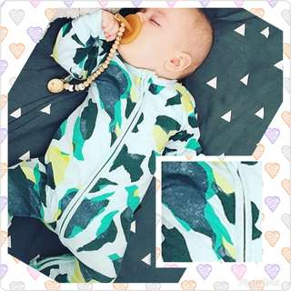 Unique Green Print Baby Pyjamas