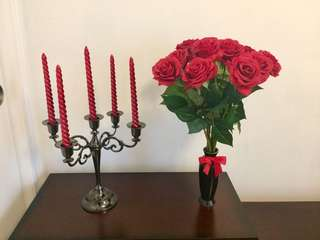 Decor candelabra with spiral candles