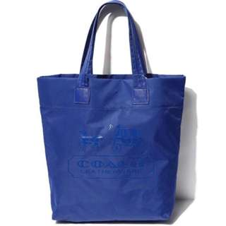 Coach Nylon Blue Shoulder Bag