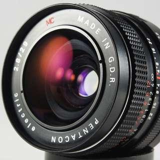 **日光銀鹽** 德鏡 Pentacon 29mm F2.8 紅MC 寶塔版 廣角鏡 #399