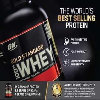 Optimum Nutrition Gold Standard Whey 5 lbs 6 Flavours