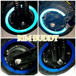 "3M 11"" Reflective DARK Blue Scooter Rim Stickers"