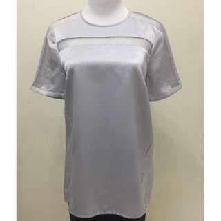 Grey Satin Blouse