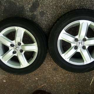 Honda city mags & Tires 15inch