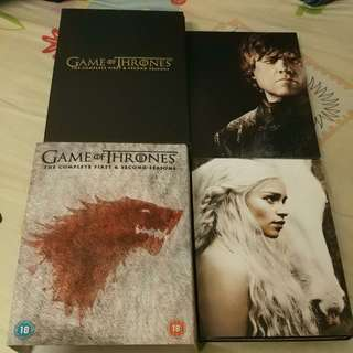 Game Of Thrones :The Complete Seasons 1 & 2 英文字幕 Dvd Set