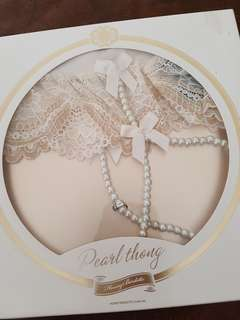 Honey Birdette Pearl Thong - Ivory M
