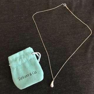Tiffany & Co. Elsa Peretti Tear Drop Pendant Necklace