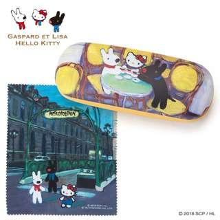 Japan Sanrio Gaspard Et Lisa x Hello Kitty Glasses Case