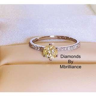 Natural authentic diamond K VS2 ring 18k solid gold engagement Wedding ring with side stones