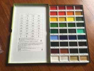Kuretake watercolor set 36 colors