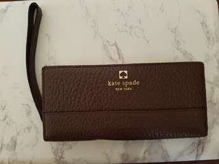 Kate Spade - Brown Pebble Leather Wallet. Brand new