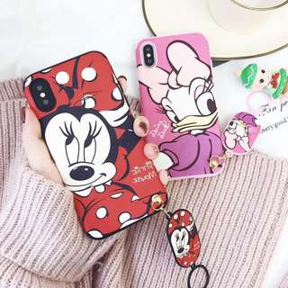 CASING SOFT MOTIF KARTUN MICKEY MOUSE WITH RING HOLDER
