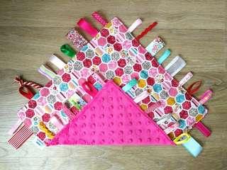 "12"" Handmade Baby Taggie Handkerchief"