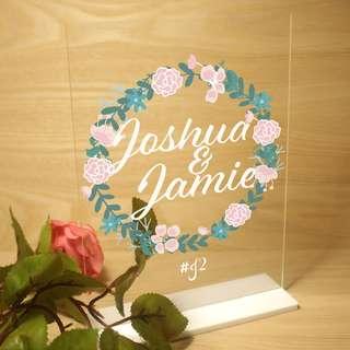 Wedding Custom Photo Sign with Hashtag