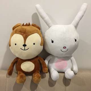 Cute Neukkun & Hayang Soft Toys